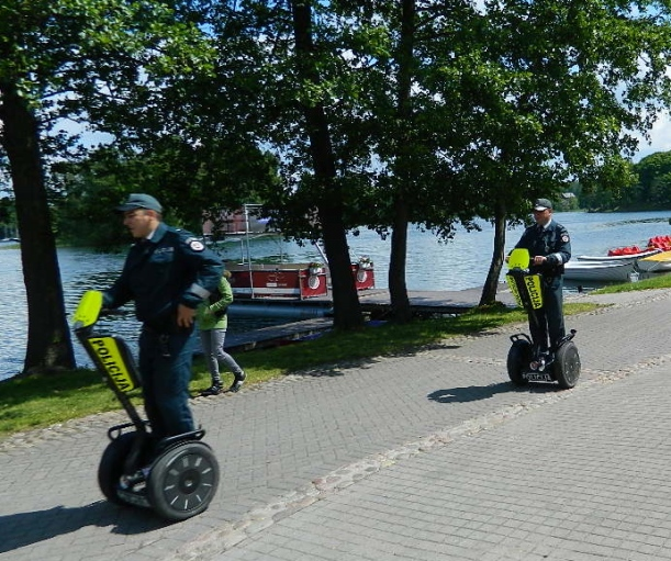Lithuanian police in Trakai